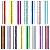 Hojas de vinilo de transferencia de calor con purpurina de 15 colores, para planchar, paquetes de vinilo brillante HTV para manualidades, camisetas, gorros, suministros de ropa, 30,5 x 25,4 cm