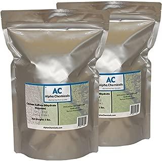 Calcium Sulfate Dihydrate - Gypsum - CaSO42H2O - 10 Pounds