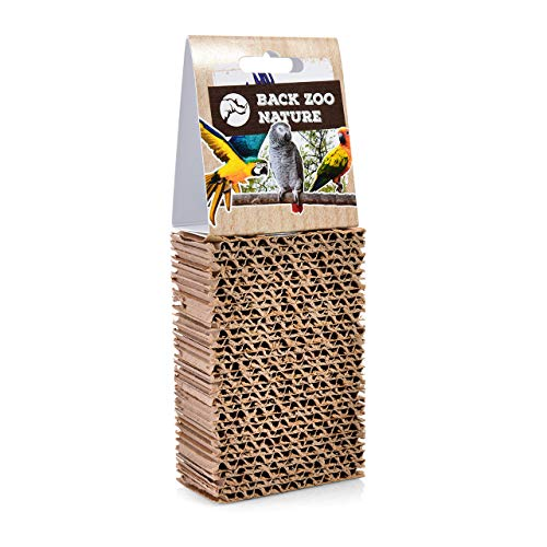 HappyBird ® | Sitzbrett aus Wellpappe zum schreddern | Cardboard Treat Block | Spaß für alle Sittiche und kleine Papageien | SMALL