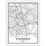 Leinwand Bild,Schweden Stockholm Stadtplan Moderne