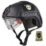 Atairsoft tattico esercito stile militare SWAT Combat MH tipo Fast Helmet (L/XL) Airsoft Paintball caccia Goggle CQB shooting Gear W/nero