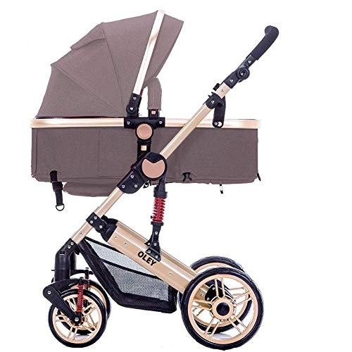 Buy PLDDY Standard Two Way Toddlers Strollers Four Rounds Newborn Prams fold Baby Pushchairs Suitabl...