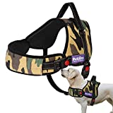 PetLove Dog Harness, Adjustable Soft Leash Padded No Pull Dog Harness for Small Medium Large Dogs, Camouflage