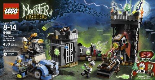 LEGO Monster Fighters The Crazy Scientist & His Monster 430pieza(s) Juego de construcción - Juegos de construcción (Multicolor, 8 año(s), 430 Pieza(s), 14 año(s))