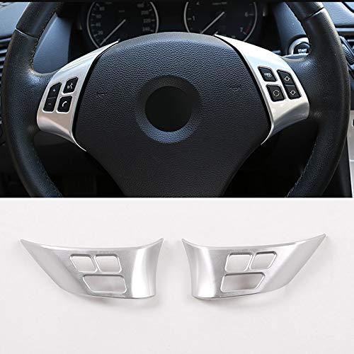 DIYUCAR - Marco de botón para volante de coche para X1 E84 2010 – 2013 ABS cromado para accesorios E90 E92 3 Series 2005 – 2012