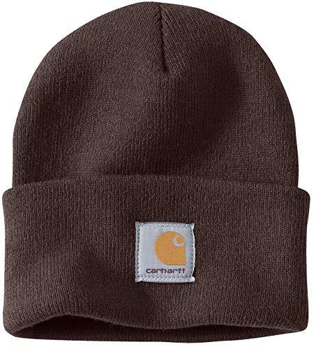 Carhartt Wintermütze für Sie und Ihn, OFA, 100% Polyacryl,elastisch, Braun, Einheitsgröße