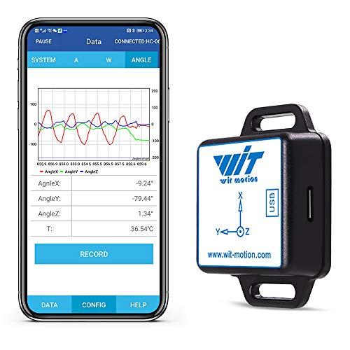 [Bluetooth-Beschleunigungsmesser+Neigungsmesser] BWT61CL MPU6050 Hochpräzises 6-Achsen-Gyroskop+Winkel (XY 0,05° Genauigkeit)+Beschleunigung mit Kalman-Filter, 100 Hz Hochstabiler 6DOF-Datenlogger
