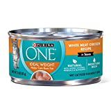 Purina ONE Natural Weight Control Wet Cat Food, Ideal Weight White Meat Chicken Recipe in Sauce - (24) 3 oz. Pull-Top Cans