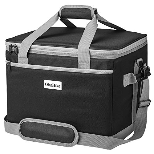 OlarHike 40-Can Large Cooler Bag, Insulated Lunch Box, Black