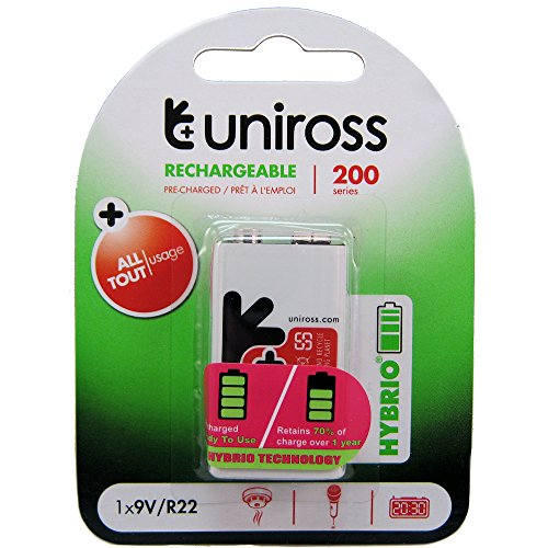 Uniross Hybrio pre-charged 1 x 9 V 200 Series batteria ricaricabile