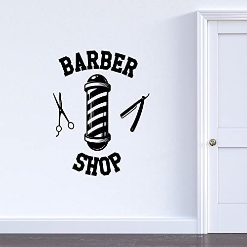Vinyl Wall Art Decal Barber Shop Sign 30 x 23 Indoor Outdoor Vintage Sign Decoration Wall Art product image