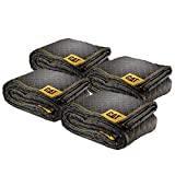 Cat Non-Woven Utility Padded Protection Moving Blankets 65GSM 80' x 72' (5.76lb Each) 4 Pack – 240030