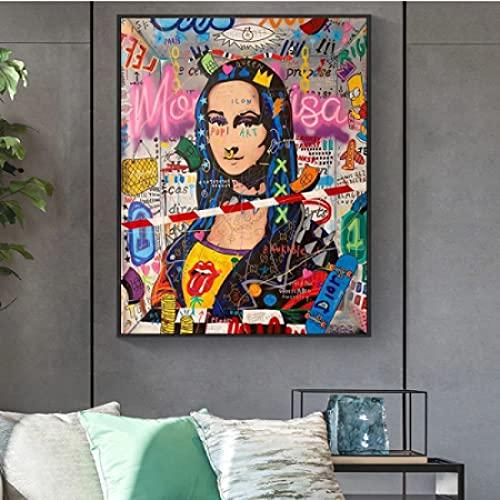 CAPTIVATE HEART Pintura de Arte en Lienzo 30x50cm sin Marco Cuadro Famoso Jesús y la Mujer samaritana para la decoración del hogar de la Sala de Estar