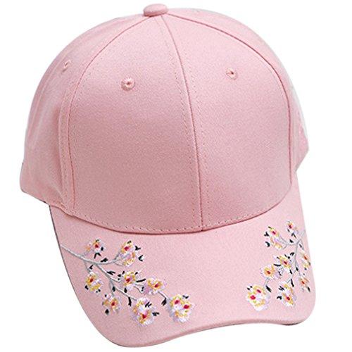 Belsen Damen Plum Stickerei Baseball Sport Kappen Cap Trucker Hat (rosa)