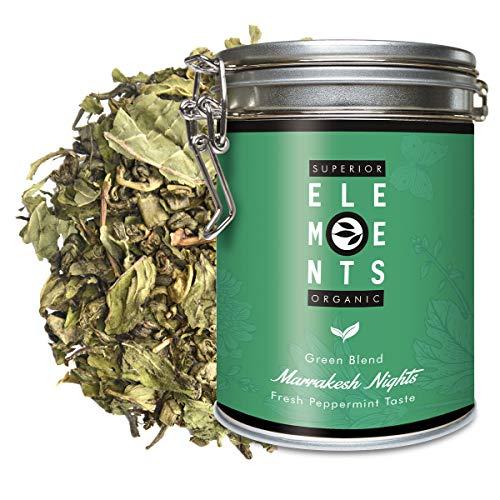 """""""Marrakesh Nights"""" Grüner Tee Lose Dose Bio mit Pfefferminze und Minze, Grüntee aromatisch, aber Ohne Aroma, 100 Gramm (ca. 40 Tassen) von alveus Premium Teas"""