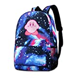 Ssxvjaioervrf Kirby's Adventure Unisex School Backpack Sports Traveling Daypack Blue