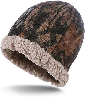Aurya Winter Beanie and Scarf Set-Fleece Ski Hunting Hat Neck Warmer for Men and Women