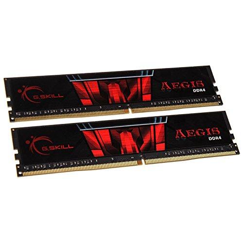 G.Skill F4-2400C17D-16GIS - Memoria RAM DDR4 de 16 GB Aegis K2 (2x8 GB, 1.2 V) Color Negro y Rojo
