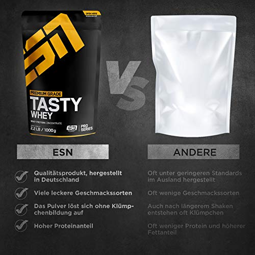 ESN Tasty Whey, Pro Series, Chocolate, 1er Pack (1 x 1000g Beutel) - 4