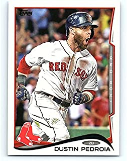 2014 Topps Series 1 Baseball #166 Dustin Pedroia Boston Red Sox Official MLB Trading Card