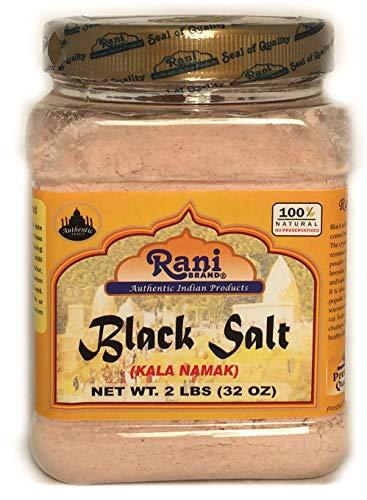 Rani Brand Authentic Indian Products Black Salt (Kala Namak) Peso netto. 2lb (32 once)