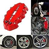 Lot de 2 cache-étriers de frein 3D en plastique ABS pour la plupart des décorations avant et arrière de voiture