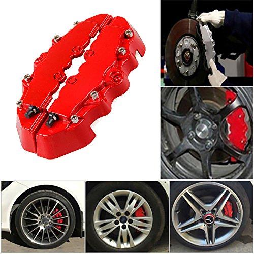 Bremssattelabdeckung, 3D-ABS-Kunststoff, für die meisten Autos geeignet, Dekorationsset, 2 Stück