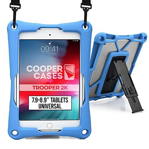 Cooper Trooper 2K Funda Tablet de 7,9 a 8,9' (20,06-22,60 cm)  Soporte, Correa para Hombro, rígida, Protección a Prueba de Golpes y caídas (asul)