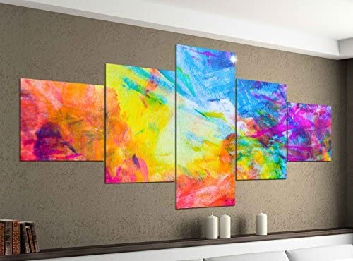 Leinwand Bild Kunstdruck Wandbilder Bilder C 150x100 Bunte Abstraktion 5tlg