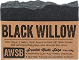 Black Willow Bar Soap for Acne with Activated Charcoal, Vegan, All Natural with Organic Ingredients,...