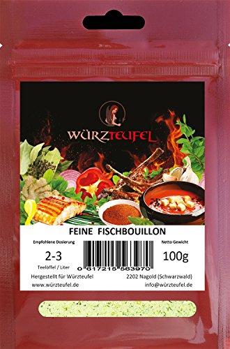 Fisch - Bouillon, Instant - Fischsuppe, Instantsuppe. Aromatische Fischbrühe. Beutel 100g.