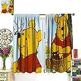 DRAGON VINES Winnie The Pooh - Cortinas opacas con diseño de mariposas,...