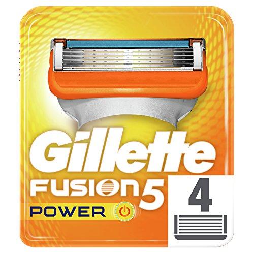 Gillette Fusion 5 Power Lame di Ricambio per Rasoio da Uomo, 4 Testine