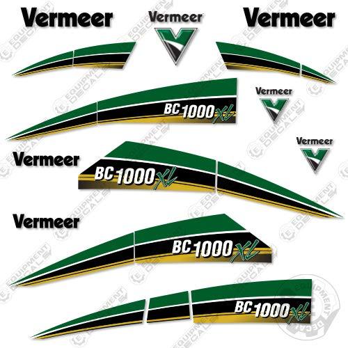 Vermeer BC 1000 XL Tier 4 Brush Chipper Decal Kit