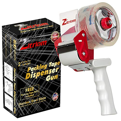 ZITRIOM Packing Tape Dispenser Gun-Plus 1 Free Packing Roll 2 Inch...