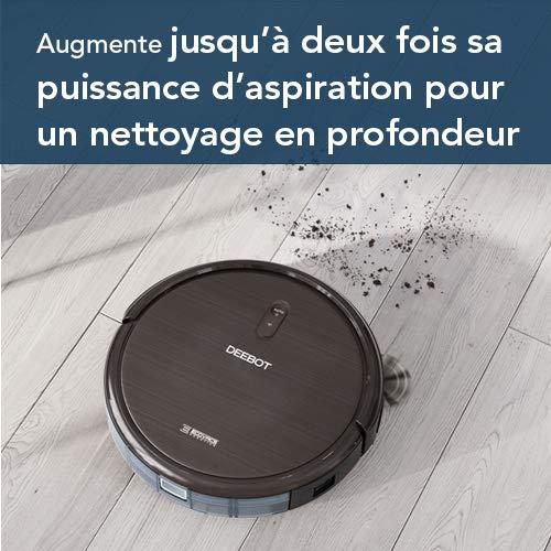 ECOVACS DEEBOT N79S – Aspirateur robot pour sols durs, tapis et moquettes minces – Aspirateur sans fil programmable via smartphone et compatible avec Amazon Alexa
