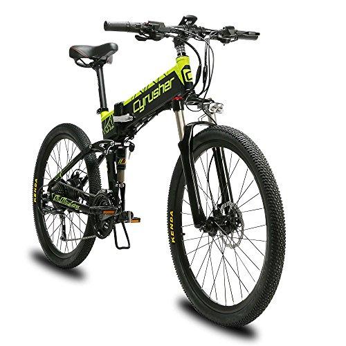 Extrbici Mountain Bike XF770 500W 48V 27 velocità Ruota a Raggi con Telaio Pieghevole in Lega di Alluminio Freni a Disco Idraulici Doppi