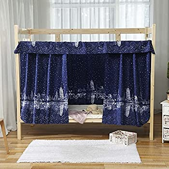 Students Dormitory Bunk Bed CurtainsBlackout Bed Curtain Dustproof Bed Canopy Mosquito Nets Bunk Bed Tent Twin Bunk Bed Privacy Shading Cabin