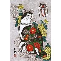 ジグソーパズル1000ピース大人,日本のタトゥー猫パズル,チャレンジ難しいゲームおもちゃ,木製パズル装飾壁画,子供向けクリエイティブギフト,022