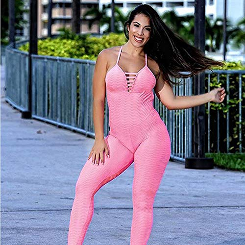 Yundongyi Fitness Vrouwen Jumpsuit Yoga Met Gecapitonneerde Backless Push Up Yoga Sets Sportkleding Gym Leggings Een Stuk Atletische slijtage