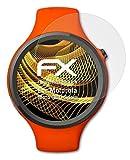 atFoliX Panzerfolie kompatibel mit Motorola Moto 360 Sport Schutzfolie, entspiegelnde & stoßdämpfende FX Folie (3X)