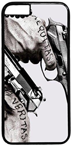 Case for iPhone 7 Plus,Guns Tattoos Aequitas Veritas Black Hard Shell Cover Skin Cases iPhone 7/7S Plus case(5.5inch)