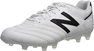 Men's 442 Team V1 Classic Soccer Shoe, White/Black, 12.5 D US