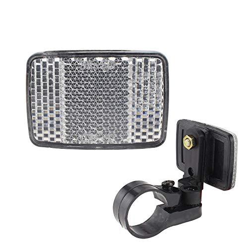 TININNA Reflektoren Fahrrad Reflektor mit Halterung, MTB Reflektor Heckreflektor Für Fahrräder Fahrradreflektor für vorne mit Haltern, Frontstrahler 22mm Weiß