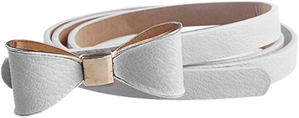 Becoler Womens Leisure Artificial Leather Bow Belt Waist Belt Waistband