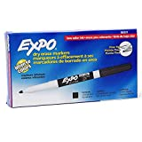 EXPO Low Odor Dry Erase Marker for Use in Office and School - Fine Point Tip 86001 - Black (Pack of 12)