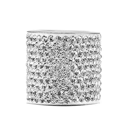 VusiElag Cuello de Cazador de cebollos de Cazador de Cazadores de cebollos de Cristal Bling Coche Decoración Interior Accesorios Blanco