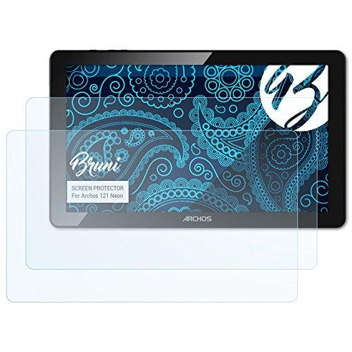 Bruni Schutzfolie kompatibel mit Archos 121 Neon Folie, glasklare Displayschutzfolie (2X)