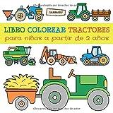 Libro Colorear Tractores para Niños a Partir de 2 Años