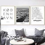 MXmama Kopenhagen Danmark City Landscape Leinwand Poster